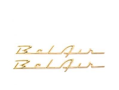 1957 emblem bel air gold pair