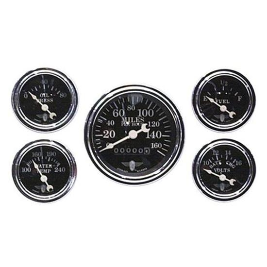 warner 82227 five gauge set electric mechanical black stewart warner 82227 five gauge set electric mechanical black