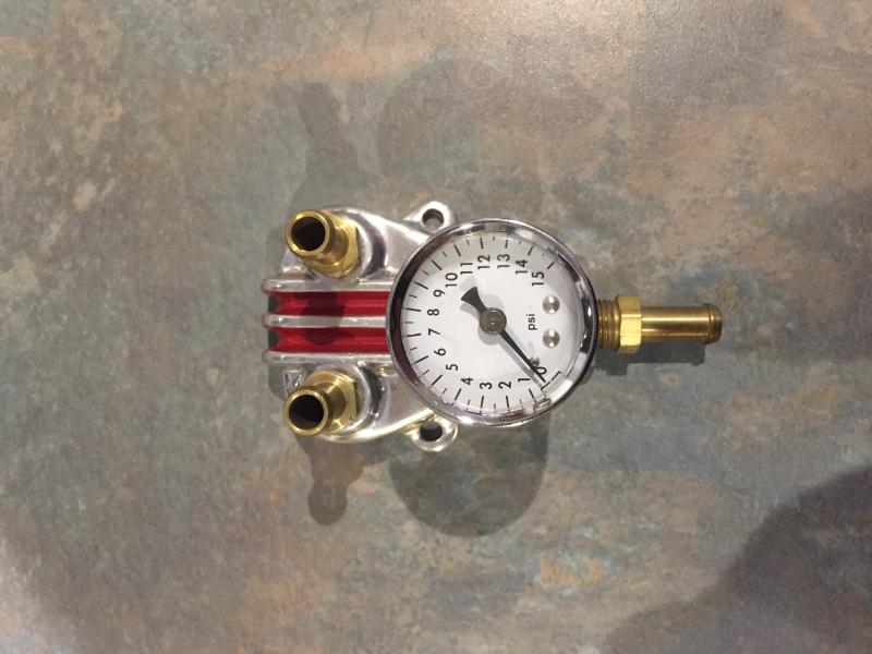 Fuel Pressure Gauge C/W Fuel Block