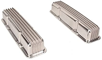 Aluminum Valve Covers, Small Block Fits Chevy, Tall, Finned, Pair